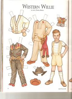Sew Beautiful paper doll Willie by Lagniappe*Too, via Flickr
