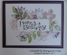 Stampin' Up! Sassy Salutations and Secret Garden using Ink Swiping Watercolor Technique