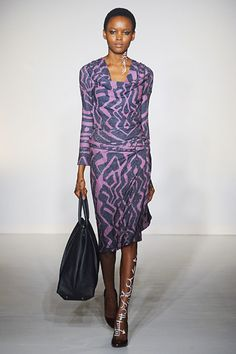 Cool to see the body painting art enhancing fashion designs. Vivienne Westwood Fall 2012 RTW. Nice colors and lines.