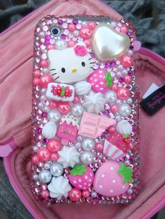 Image shared by Find images and videos about pink, iphone and hello kitty on We Heart It - the app to get lost in what you love. Diy Phone Case, Cute Phone Cases, Iphone Cases, Phone Cover, Iphone 4, Pink Love, Pretty In Pink, Pink Hello Kitty, Hello Hello
