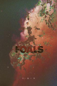 Foals poster design www.ark.co.uk #music #cool #welove