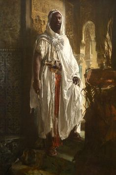 I always loved this painting of The Moorish Chief, and it was the perfect inspiration for Kyoge, Mana's guard. He is strong, intelligent, and fiercely loyal. Quite a few sparks fly when he and Mana are in the same scene!