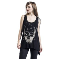 """Top donna """"Skull Top"""" del brand #Banned."""