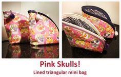 Triangular Skulls! Pink Skull, Mini Bag, Skulls, Sunglasses Case, Bags, Collection, Fashion, Handbags, Moda