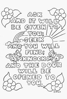 Printable Bible Coloring Pages Free  20 Bible Verse Coloring Pages — Kathleen Fucci Ministries .
