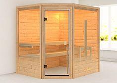 Sauna selber bauen - die besten Komplett-Sets Indoor Sauna, Back Deck, Construction, Locker Storage, Cottage, Interior, Furniture, Home Decor, Rooms