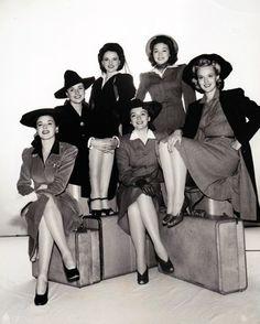 Kay Aldridge, Peggy Diggins, Marguerite Chapman, Georgia Carroll, Alix Talton, Leslie Brooks, You're in the Army Now, 1941