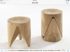 Buy online J+i zig + zag By riva low stackable solid wood stool design Sakura Adachi, j+i Collection Wood Chair Design, Wood Stool, Wood Design, Wood Chairs, Diy Stool, Lounge Chairs, Dining Chairs, Wooden Furniture, Cool Furniture
