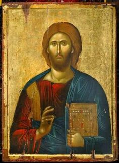 Origin of Ὁ ὬΝ in The Halo of Christ Religious Images, Religious Icons, Religious Art, Byzantine Icons, Byzantine Art, Christ Pantocrator, Catholic Pictures, Paint Icon, Jesus Face