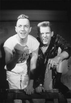 Joe Strummer and Paul Simonon
