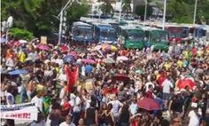 Pregopontocom Tudo: Manifestantes protestam em Salvador contra reformas da Previdência e trabalhista...