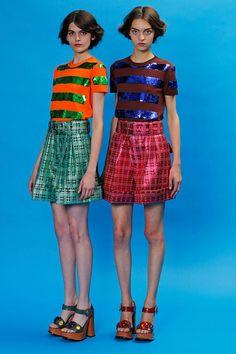 Orange/Green Knit/Sequin. Marc Jacobs Resort '13