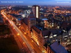 Manchester museum (the old building, on the right of the road)   ~ More BBC Manchester photos here ~ http://www.bbc.co.uk/manchester/in_pictures/mcr_wallpaper/index.shtml