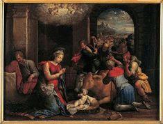 Adorazione dei pastori. 1536-1537. Olio su tavola. Pinacoteca Capitolina