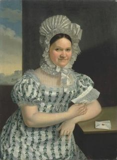 Portrait of a lady with a letter by Antonin Machek, painted 1816. National Gallery, Prague