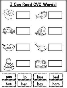 cvc words kindergarten cut and paste Cut And Paste Worksheets, Phonics Worksheets, Kindergarten Language Arts, Kindergarten Reading, First Grade Words, Hidden Words, Phonics Reading, Cvc Words, Clothes Worksheet