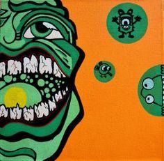 """Saatchi Art Artist Elisabeth Vergoossen; Painting, """"Mr. Green"""" #art"""