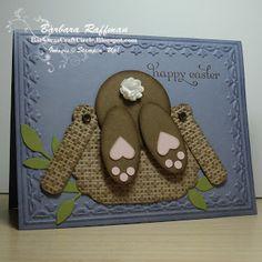 Barbara's Craft Circle: Basket Diving Bunny - Punch Art Easter Card