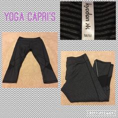 💟Size Medium Kyodan Yoga Pants Cropped Capri's Measurements are in photos. Normal wash wear, no flaws. C3  Ask about a bundle discount on all items that are not ⏰Flash Sale items! I ship everyday. I always package safely. If I run out of boxes, I will use priority bags over a polymailer bag. If you prefer to only receive this great item in a box, please let me know! Thanks! Kyodan Pants Leggings