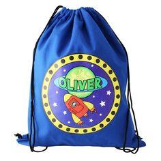 Personalised Football Gym Bag Swim Nursery Drawstring School PE Kit Sports Kids