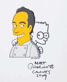 Ferran Adria by Matt Groening