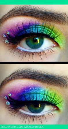 Peacock makeup! | Sarah A.'s (Makeupbysea) Photo | Beautylish