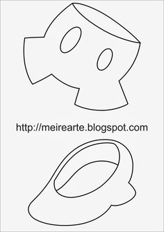 .::Meire Arte: Moldes Calça Mickey e Sapato Minnie