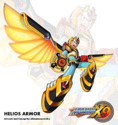 Megaman X9 - Helios Armor by ultimatemaverickx.deviantart.com on @DeviantArt