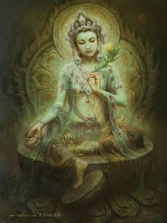 hite Tara but She has a water lily (utpala). She is a Buddhashakti and is regarded as a protector. She is often depicted as slender and graceful. Green Tara is often represented with a mischievous or playful smile on Her face. Green Tara's powers are focused on protection. However, She is also a powerful guide during meditation.