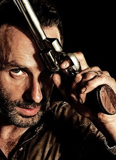"DAMN.  ANDREW LINCOLN AS  ""RICK GRIMES"".  SOMEONE GET ME A DRINK OF WATER ..."