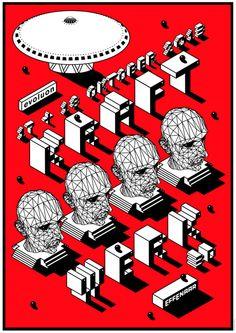Kraftwerk concert poster. #gigposters #musicart #concerts http://www.pinterest.com/TheHitman14/music-poster-art-%2B/