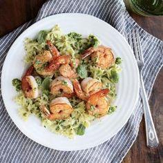 Shrimp Farfalle with Arugula Pesto - Superfast Shrimp Recipes - Cooking Light Mobile