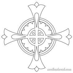 Diseños de bordado a mano libre: Cruz por Eclesiástica Bordado
