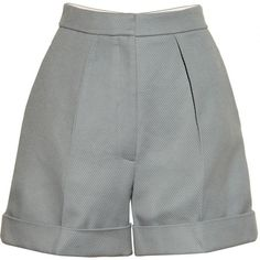 Stella McCartney Wicker-weave cotton shorts ($225) ❤ liked on Polyvore