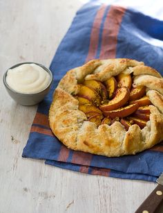 Bake this peach and pistachio galette recipe with a special ingredient - coffee grounds!