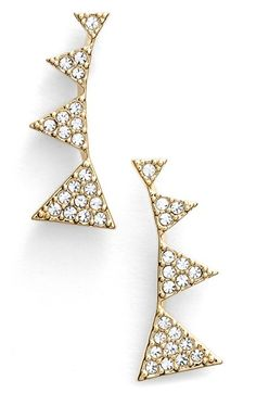 Nadri Triangle Stud Earrings available at #Nordstrom