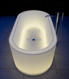 Illuminated Bathtubs by Antonio Lupi - OIO,,,how cool is this?
