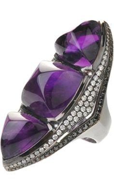 Deborah Pagani Diamond & Amethyst Zeena Ring