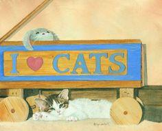 I Heart Cats.  Lyn Estall