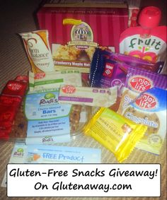 Great #Glutenfree Giveaway for Snacks on the go!