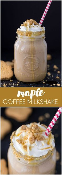 Maple Coffee Milkshake - Sweet, cold and maplelicious! Try this ice cold coffee milkshake as a yummy way to beat the summer heat. Make it in a matter of minutes in your blender.