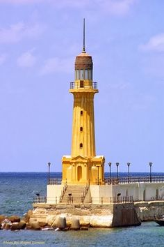 Al Montazah lighthouse, Alexandria, Egypt