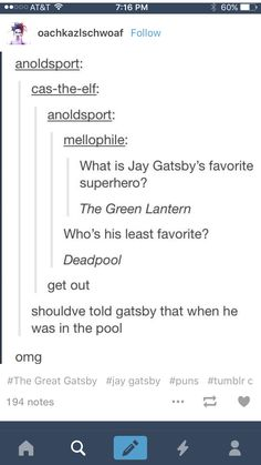 The great Gatsby- Hilarious Tumblr comments