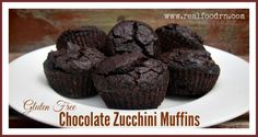 Gluten free chocolate zucchini muffins. Filled with healthy ingredients that are so good, you could even eat them for breakfast!