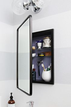 IHeart Organizing Space Saving Storage with an Organized Medicine Cabinet #bathroom