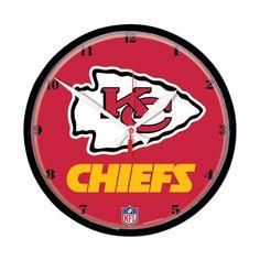 Kansas City Chiefs Round Wall Clock