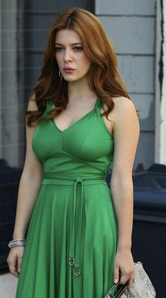 great green dress - on elena satine Gorgeous Redhead, Beautiful Girl Image, Gorgeous Women, Beautiful Celebrities, Beautiful Actresses, Elena Satine, Party Mode, Hollywood Gossip, Most Beautiful Indian Actress