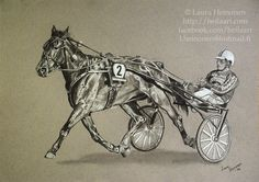 Harness racing horse and driver in charcoal on A3 Canson Mi-Teintes paper. Commissioned piece.  #art #artofinstagram #artofinsta #artists…