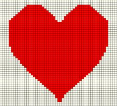 ♥ⓛⓞⓥⓔ♥ Valentine Heart Pillow Graph