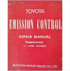 Toyota Land Cruiser Emission Control Manual Supplement 98132 on eBid United Kingdom